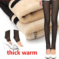 Fashion Fake Skin Leggings Winter Warm Legging Fashion Solid Fleeces One-piece Foot Pants DD8007