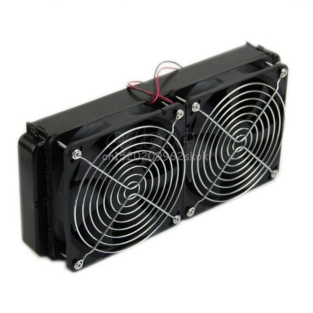 Computer Accessories 1pc 240mm Aluminum Computer Radiator Water Cooling Cooler 2 Fans For CPU Heatsink #H029#