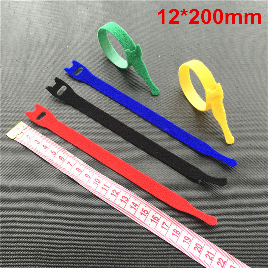 10pcs 12200mm Back To Reusable Cable Ties Wiring Harness Cord Zip Self Adhesive Fastener In Tape From Home Garden On