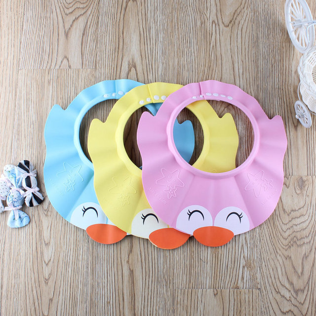 caef3b956187 2019 New Arrival Adjustable Thickening Cartoon Baby Shampoo Cap Baby  Products Hair Wash Hat
