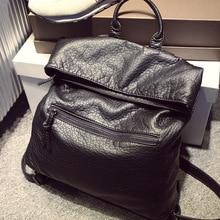 2017 леди Натуральная кожа рюкзак женская летняя обувь школьные рюкзаки для девочек-подростков женские сумки на плечо женские винтажные новые C256