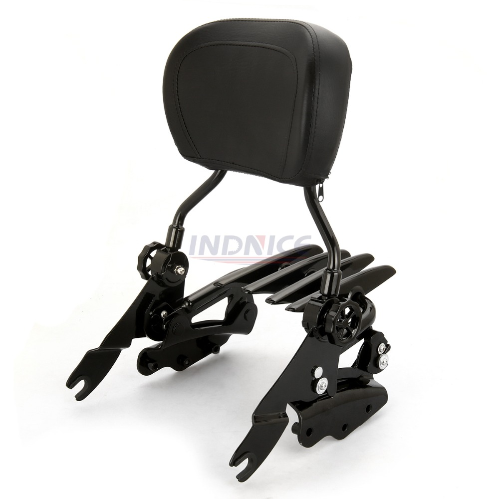 Motorcycle Backrest Sissy Bar Luggage Rack Docking For Harley Touring Road King Street Glide Electra Glide Cvo Ultra 2014-2019 Frames & Fittings Covers & Ornamental Mouldings