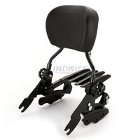 Sissybar Backrest + Docking hardware kits + luggage Rack For Harley Touring Street Glide roadking ultra CVO 2009 2013 gloss blac