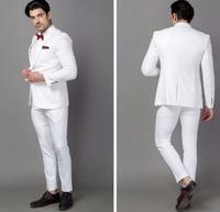 クラシック品質ホワイト男性スーツタキシード衣装オムビジネススーツ結婚式スーツ用男性白結婚式のタキシー