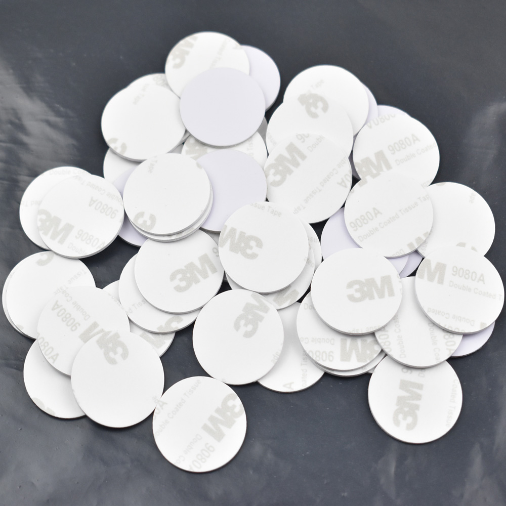 10pcs 13 56MHZ NFC Tags Ntag213 ISO14443A NFC Coin Card With 3M Adhesive Sticker 25mm Support