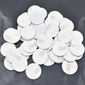 10pcs 13.56MHZ NFC Tags Ntag213 ISO14443A NFC Coin Card With 3M Adhesive Sticker(25mm)Support Any NFC Function Smart Phone