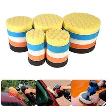 5Pcs 3/4/5/6/7 Inch Buffing Sponge Polishing Pad Kit Set For Car Polisher Buffer