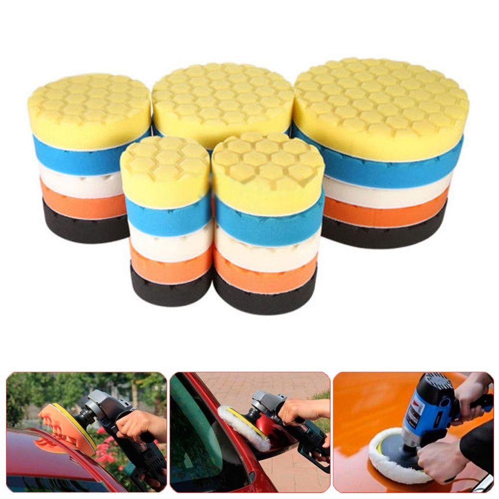 5Pcs 3/4/5/6/7 Inch Buffing Sponge Polishing Pad Kit Set