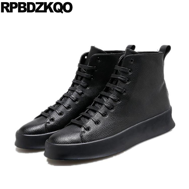 Detail Feedback Questions about Skate Sneakers Black Height Increasing  Trainers Rubber Elevator Breathable High Top Winter Casual Designer Shoes  Men Luxury ... d5dc6b4ae40d