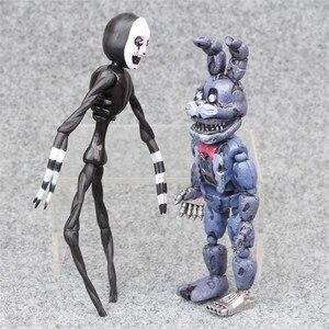 Image 4 - 6pcs/set At Freddys Five Nights PVC Action figure 17cm Bonnie Foxy Freddy toys 5 Fazbear Bear Doll baby toys for Christmas gift