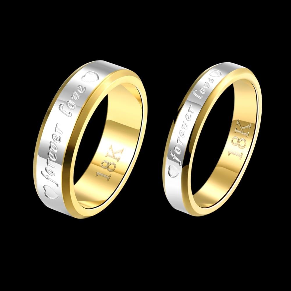 366dfe1dc2b87 Forever love couple Seanuo Hot ouro amarelo anel de dedo jóias Dia Dos  Namorados moda marca casamento do coração anéis de aço inoxidável em Anéis  de Jóias ...