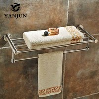 YANJUN Wall mounted Stainless Steel 304 Towel Racks Towel Shelf Bathroom Accessories For Home YJ 7560