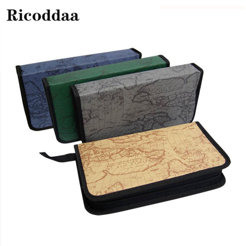 80pcs Disc CD DVD Capacity Case Storage Holder Carry Case Organizer Sleeve Wallet Cover Bag Box CD DVD Storage Cover Accessories