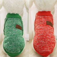 Classic Warm Dog Clothes Puppy Pet Cat Jacket Coat Winter Fashion Soft Sweater Clothing For Small Dogs  S-XL