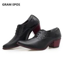 GRAM EPOS/брендовые Мужские модельные туфли-оксфорды, увеличивающие рост; Tenis Masculino; высококачественные свадебные мужские туфли из мягкой кожи на шнуровке; повседневная обувь