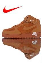 8019013f Nike Air Force 1 Mid '07 'Orange/Midsole Logo' Мужская и женская обувь для  скейтбординга уличные кроссовки легкие 315123-207