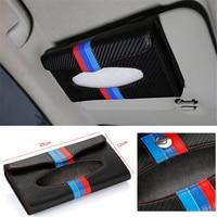 M Color Sun Visor Tissue Box Organizer Sunshade Hanging Napkin Holder Storage For BMW 1 3