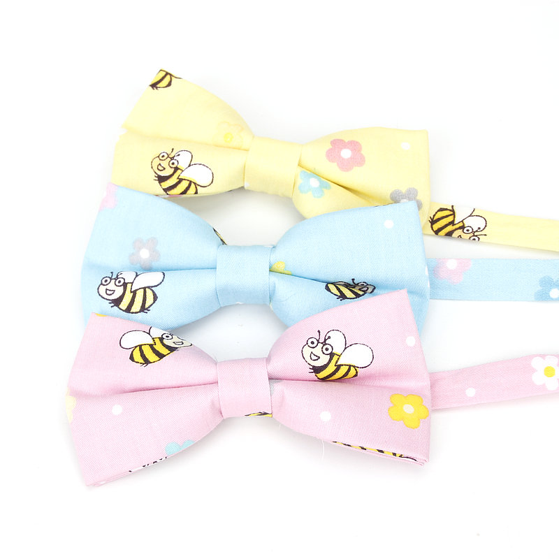Brand New Men's Formal Cotton Vintage Animal Bee Print Bow Tie Butterfly Bowtie Tuxedo Butterfly Bows Groom  Party Accessories