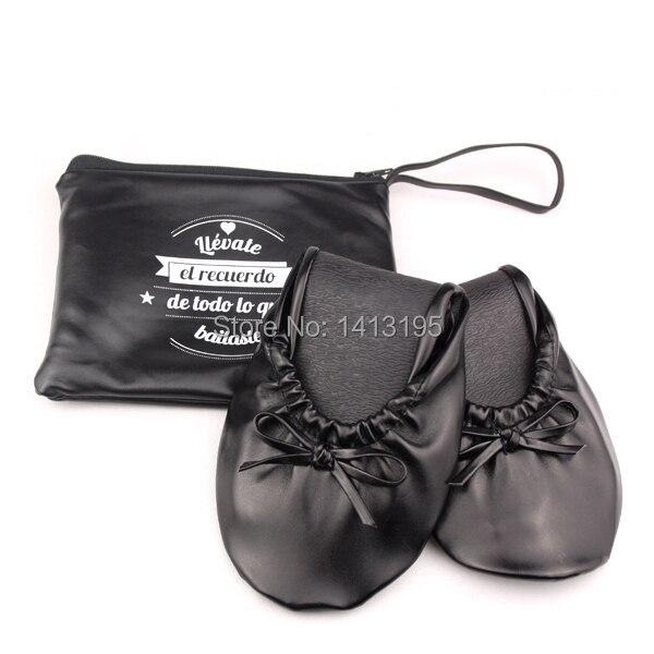 Tragbare Schwarz Schuhe Faltbare Tasche Für Mode Großen Fahren Rabatt Ballerina Reisen 1xpwWH
