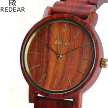 REDEAR907,all bamboo material luxury men's watch, watch of wrist of high-end brands, fashion quartz watch, archaize casual watch