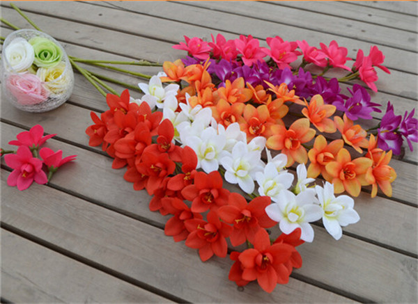 Single stem orchid 95cm3740 length artificial flowers orchids for single stem orchid 95cm3740 length artificial flowers orchids for wedding centerpieces home artificial decorative flowers in artificial dried flowers mightylinksfo