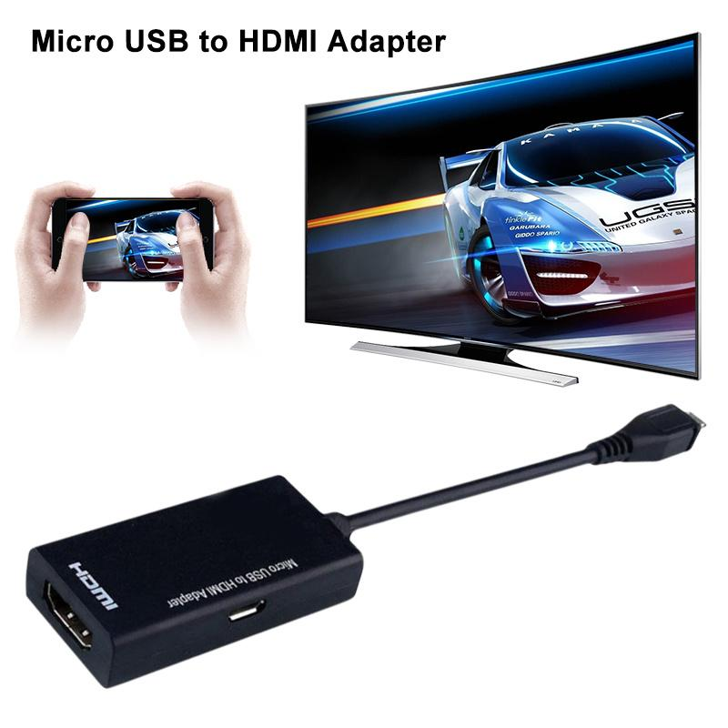 New Micro USB to HDMI HD Adapter cable Male to Female High Speed HDTV Adapter Converter Cable Audio Cables for TV Phone Computer micro usb mhl to hdmi male hd video adapter cable w micro usb 5pin to 11pin cable blue