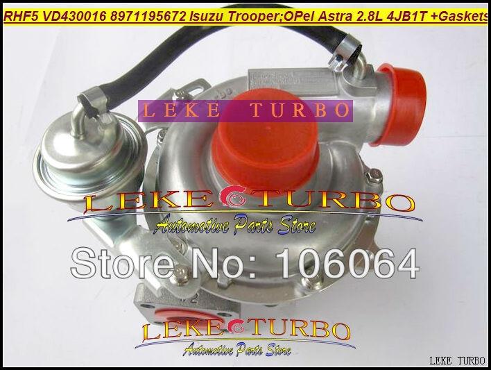 RHF5 VD430016 VIBF 8971195672 Turbo Turbocharger For HOLDEN For ISUZU Rodeo Vauxhall Trooper For OPEL Astra 4JB1T 4JB1-TC 2.8L