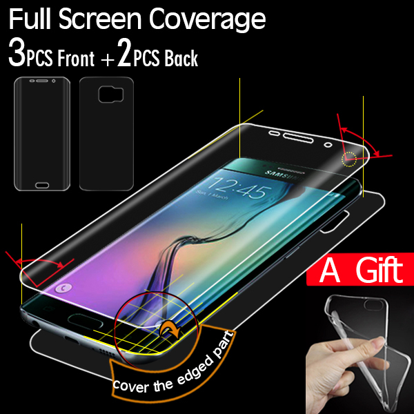 samsung s6 edge phone case with screen protector