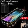 Protetor de cobertura de tela cheia para samsung galaxy s6 edge protetor de tela s6 edge plus tpu filme 3 10front + 2 voltar + 1 telefone caso