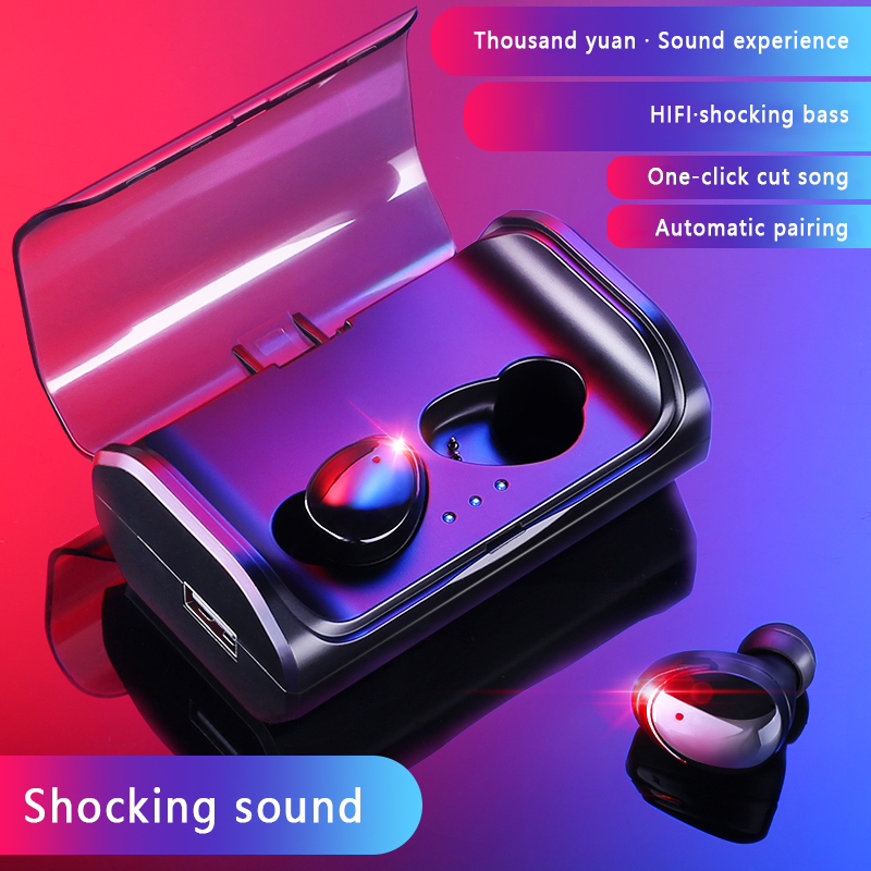 Super Sound T8 Wireless Bluetooth Headset Binaural 5.0 In-ear Small Mini 3D Stereo Invisible Sports IPX6 Waterproof Earphone ovevo q62 dual wireless binaural bluetooth earphone mini in ear headset portable charging cabin sports headphones for smartphone