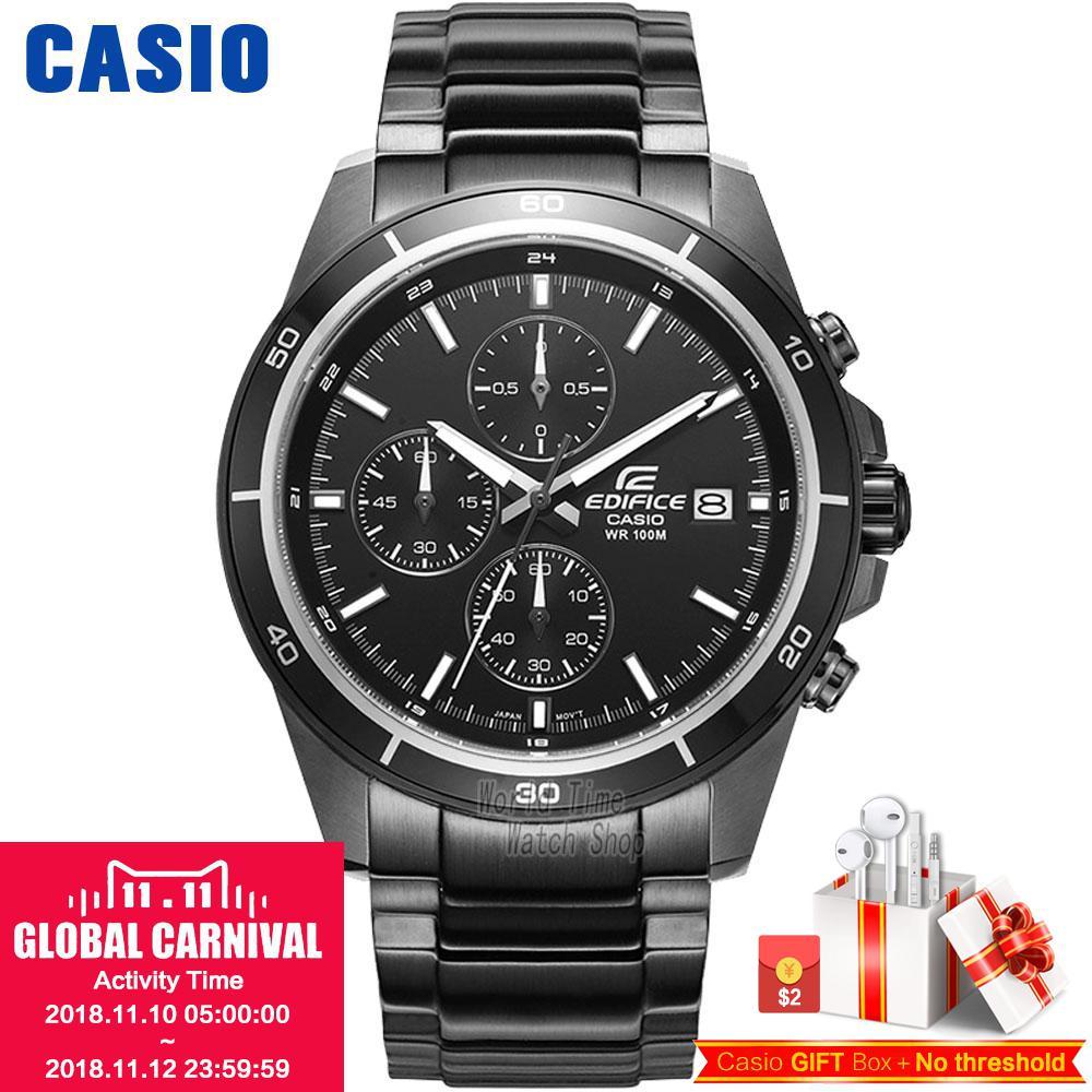 Casio Watch Quartz Time Waterproof Racing Men's Watch EFR-526BK-1A1 EFR-526BK-1A2 все цены