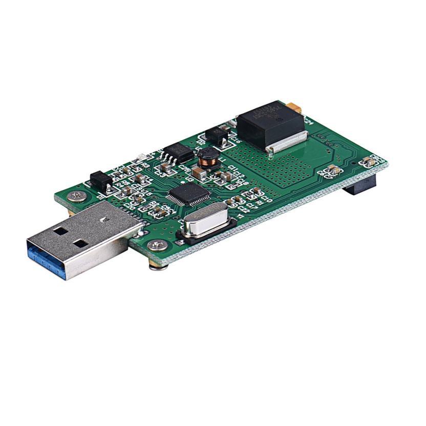 Mini PCI-E mSATA To USB 3.0 External SSD Conveter Adapter Card MOSUNX Futural Digital Hot Selling F35 mini pci e msata to ssd 2 5 sata3 adapter green black