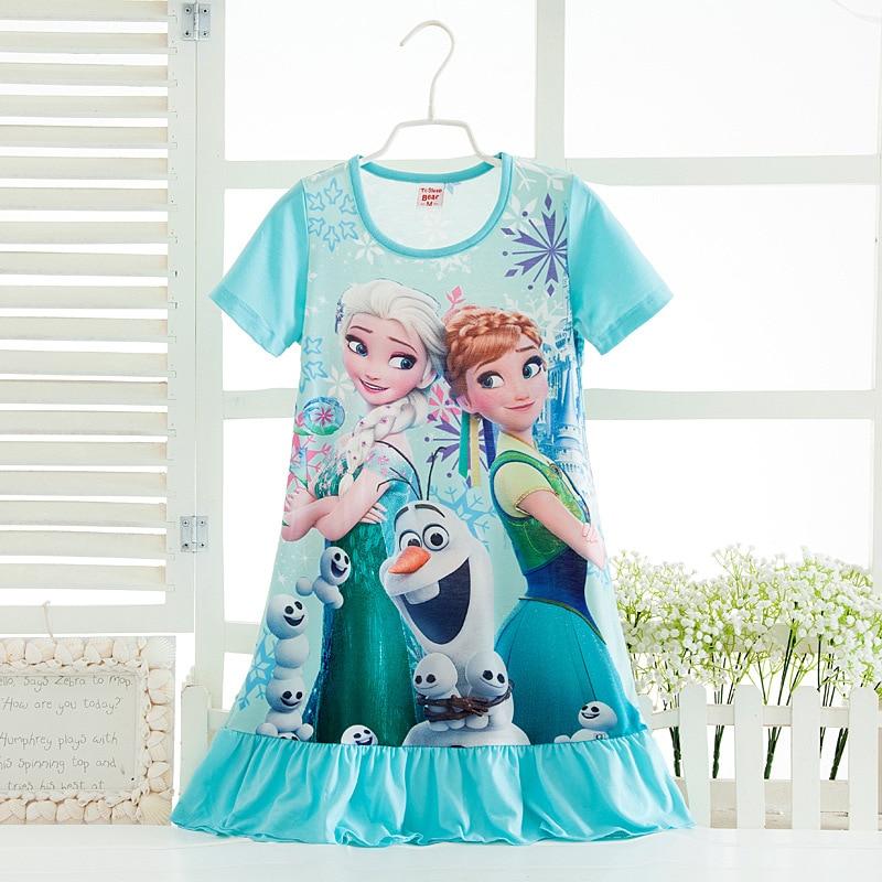 Princess Dresses Elsa Anna Sofia Princess Girl Dress Nightgown Kids Dresses Night Gown Pajamas Dress Sleepwear Pyjamas Clothes Torex