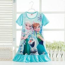 1d2c4e59fa1 Vestidos de princesa Elsa Anna Sofía princesa vestido camisón vestidos  noche vestido pijamas dormir vestido pijamas ropa