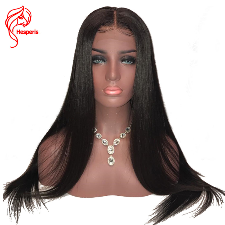 Hesperis Lace Front Human Hair Wigs With Baby Hair Indian Remy Hair Silk Straight 13x6 Lace Front Wigs For Woman Pre Plucked