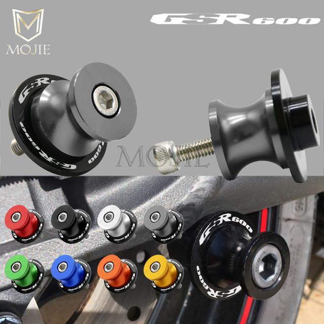 For SUZUKI GSR 600 GSR600 2006 2007 2008 2009 2010 Rear Swingarm Stand Motorcycle Stand Paddock 8MM Swingarm Sliders Spools