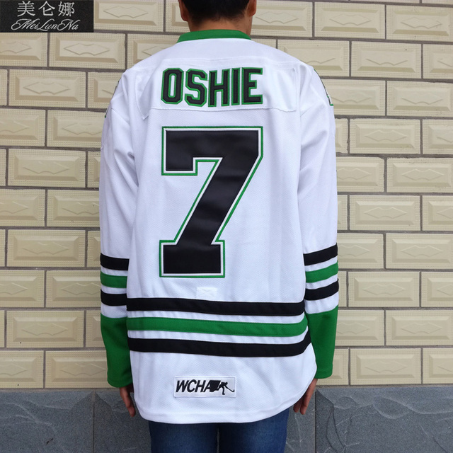 timeless design ad802 8549b MeiLunNa Christmas Black Friday UND North Dakota Fighting Sioux #7 TJ Oshie  0702 White Away Jersey-in Hockey Jerseys from Sports & Entertainment on ...