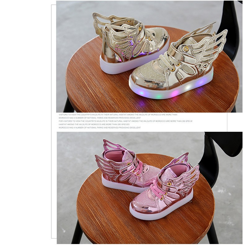 17 Autumn Kids LED luminous Sneakers Glowing Brand Child Breathable Light Flashing Baby Boys Casual Shoes for girl size 21~30 5