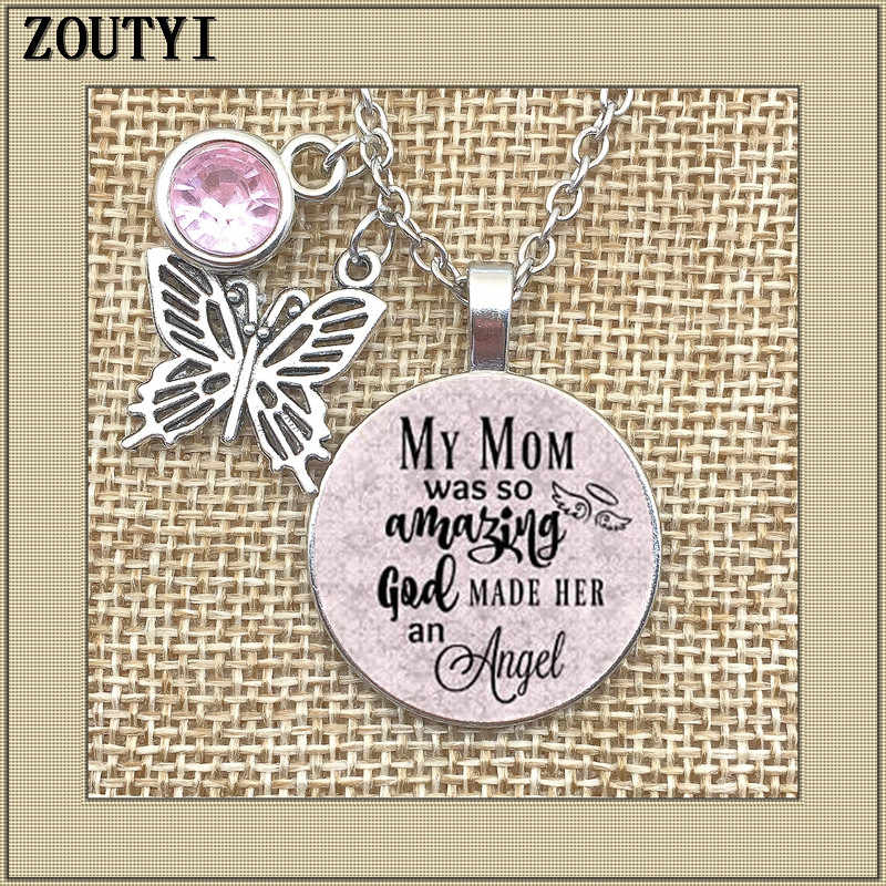 To commemorate the mother necklace, my mother is so amazing that God made her an angel, in memory, lost her mother.