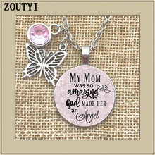 To commemorate the mother necklace, my is so amazing that God made her an angel, in memory, lost mother.