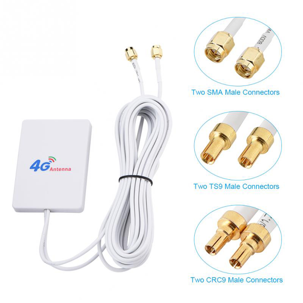 External WIFI TS-9 / SMA Cable Signal Amplifier 28DBI 4G 3G LTE Antenna Network Connector Mobile Router Aerial Double Broadband