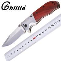 Hot Sale Tactical Folding Pocket Knife 3Cr13 Blade Redwood Handle Survival Knives Camping Knife Multi Tools