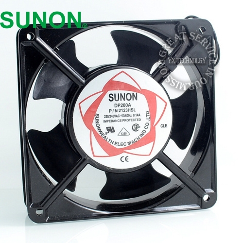 SUNON Free Shipping! New Original Taiwan blower fan  DP200A P/N2123HSL  1238 12CM 12038  120 * 120 * 38MM 220V wire type 12v usb female to 3 5mm plug car audio mp3 cable silver white 15cm