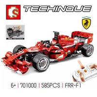 Remote Control F1 Racer RC Racing Car Building Blocks Technic Speed Champions Supercar Super Sports Car Assembly Toys Boys Gifts