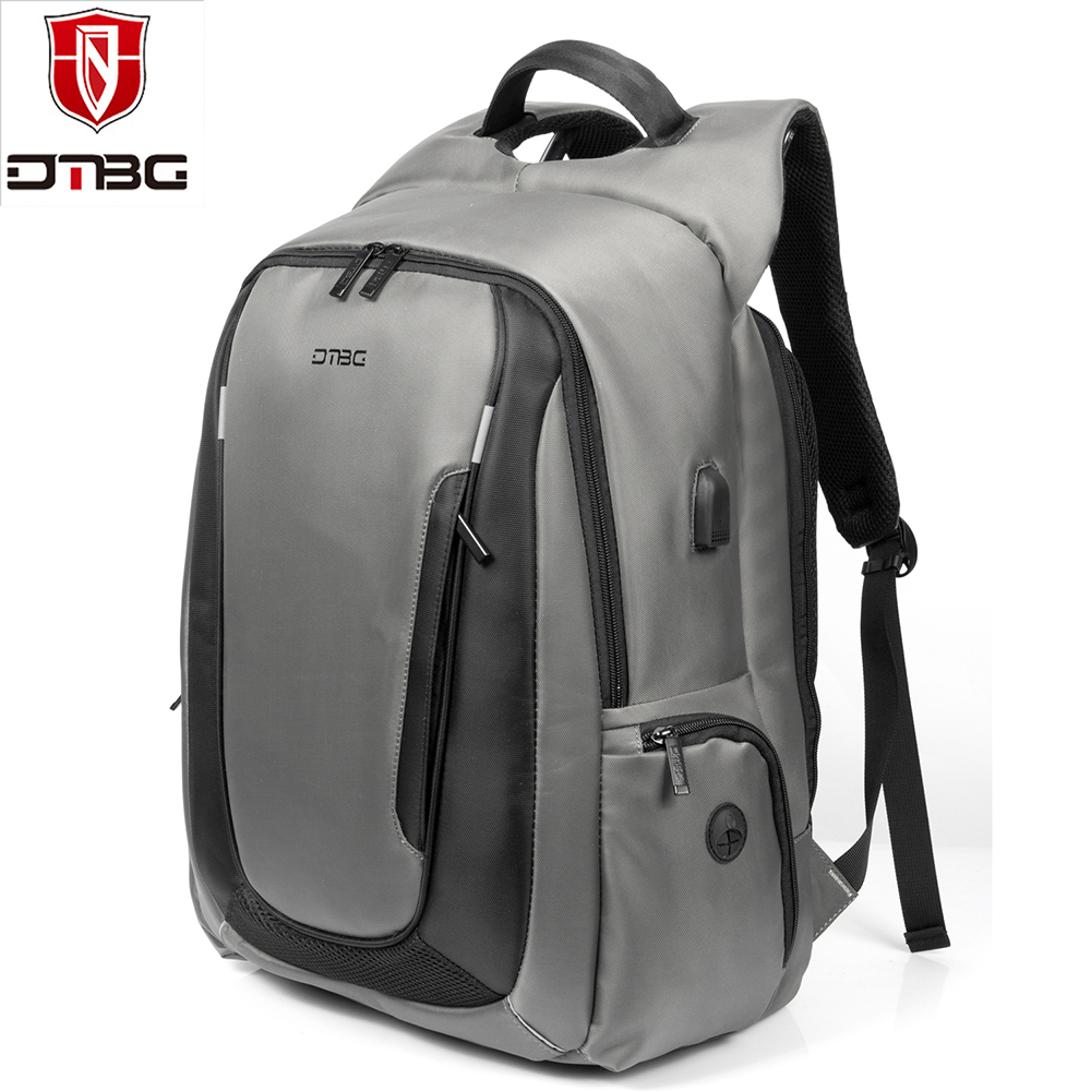 DTBG Laptop Backpack 2018 New 17.3 Inch With USB Charging Port Men Ladies Laptop Bag Nylon Waterproof Knapsack Travel Daypacks