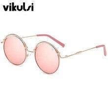 2017 Marca de Lujo de Diseño de gafas de Sol Redondas Para Damas Gafas de Sol femeninos de Época Retro Gafas de Sol de Espejo gafas de sol hombre