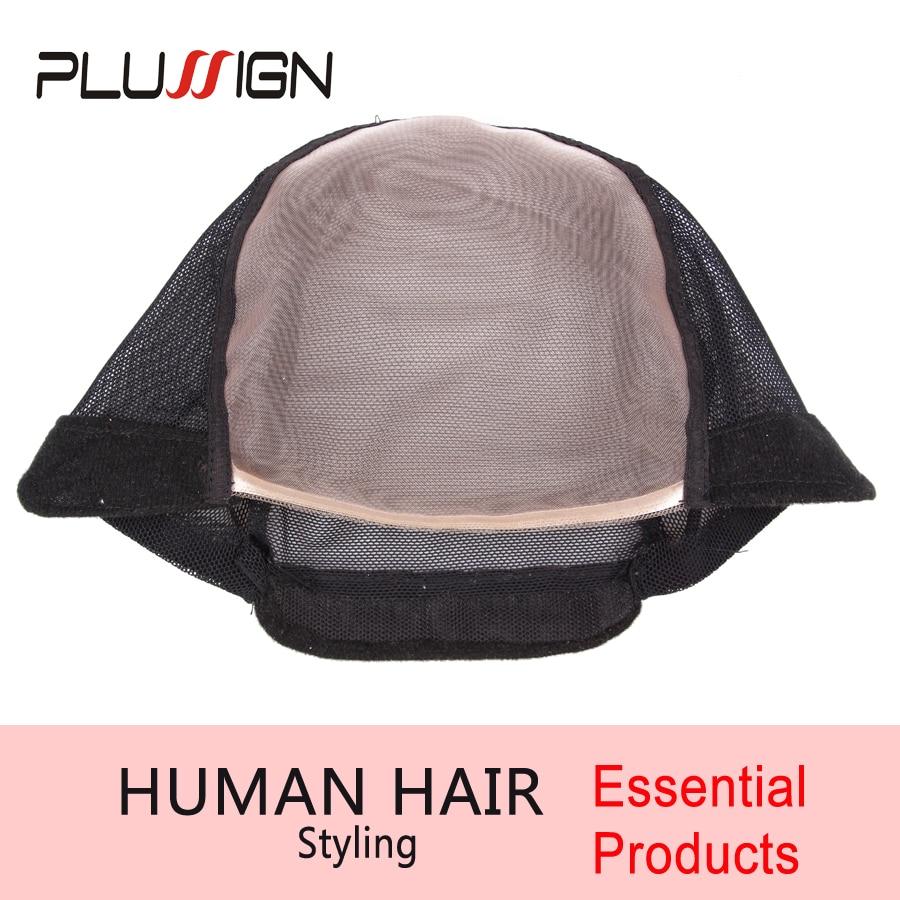 Plussign 5Pcs自由尺寸犹太假发帽制作假发5Pcs /很多无胶假发帽可调节背带上背网发床制作工具