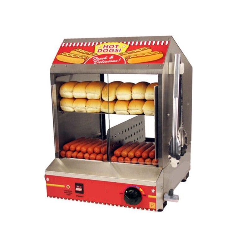 Beste Verkauf Kommerziellen 220 V Elektrische Wurst Hot Dog Herd Hotdog Dampfer Maschine & Brötchenaufsatz