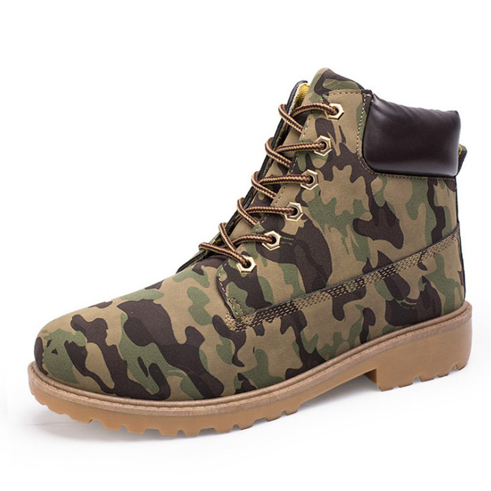 Camouflage Hommes Air up En Chaussures Yjsfg Plein Maison L armée Travail  Dentelle Hiver Cheville jaune noir ... f16823821a0