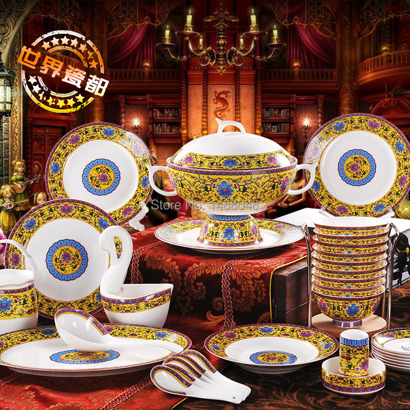 56 quality bone china dinnerware set ceramic dishes set antique royal family pastels-in Dinnerware Sets from Home \u0026 Garden on Aliexpress.com | Alibaba ... & 56 quality bone china dinnerware set ceramic dishes set antique ...
